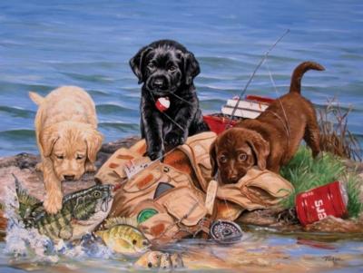 Jigsaw Puzzles - Three Little Fisherman