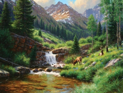 High Country Hideout - 500pc Jigsaw Puzzle by Sunsout