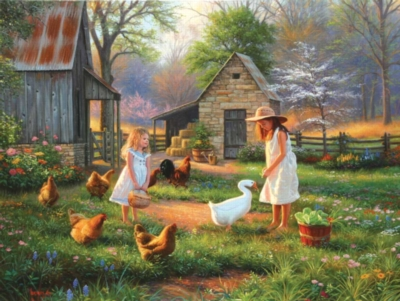 Evening at Grandma's - 500pc Jigsaw Puzzle by Sunsout