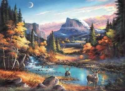 Mountain Morning - 1500pc Jigsaw Puzzle by Sunsout