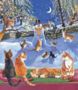 On A Frosty Night - 200pc Jigsaw Puzzle by Sunsout