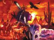 Native American Puzzles - Running Brave