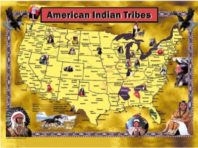 American Indian Tribes - 1000pc Jigsaw Puzzle by Sunsout