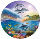 Dolphin Spotting - 500pc Round Jigsaw Puzzle by Sunsout