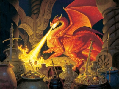 Smaug Dragon - 1000pc Jigsaw Puzzle by Sunsout