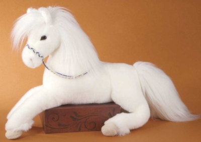 Gracie White Floppy - 22'' Horse By Douglas Cuddle Toys