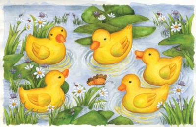 Rubber Duckies - 100pc Jigsaw Puzzle by Sunsout