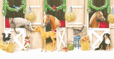 Friends & Neighbors - 300pc Large Format Horse Jigsaw Puzzle by Sunsout