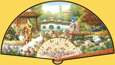 Japanese Garden - 1000pc Shaped Jigsaw Puzzle by Sunsout