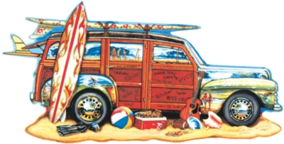 Surfin' Woodie - 1000pc Shaped Jigsaw Puzzle by Sunsout