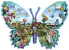 Butterfly Farm - 600pc Shaped Jigsaw Puzzle by Sunsout