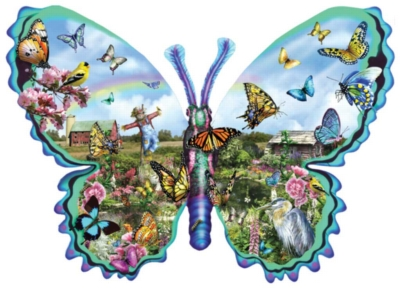 Shaped Jigsaw Puzzles - Butterfly Farm