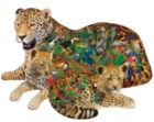 Rainforest Jaguar - 1000pc Shaped Jigsaw Puzzle by Sunsout