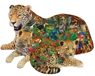Shaped Jigsaw Puzzle - Rainforest Jaguar
