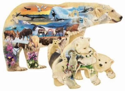 Polar Explorers - 1000pc Shaped Jigsaw Puzzle by Sunsout