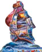 High Seas - 1000pc Shaped Jigsaw Puzzle by Sunsout
