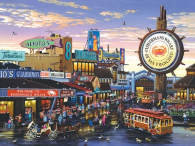 Fisherman's Wharf - 1000pc Jigsaw Puzzle by Sunsout