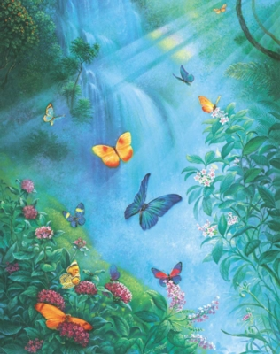 Butterflies in the Mist - 1000pc Jigsaw Puzzle by Sunsout