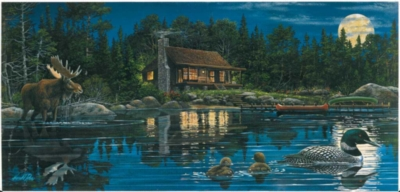 Reflections on Loon Landing - 1000pc Jigsaw Puzzle by Sunsout