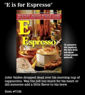 E is for Espresso - 2 x 500pc TDC Mystery Jigsaw Puzzle