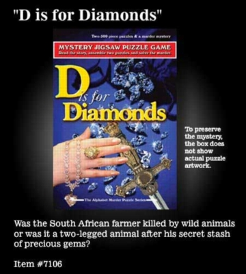 D is for Diamonds - 2 x 500pc TDC Mystery Jigsaw Puzzle