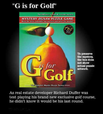 G is for Golf - 2 x 500pc TDC Mystery Jigsaw Puzzle