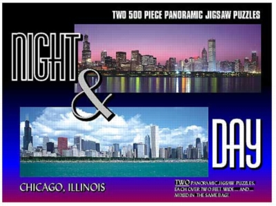 Chicago - 2 x 500pc TDC Panoramic Jigsaw Puzzles
