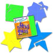 Tessellation Puzzles - 4 Tricky 2 Way Star