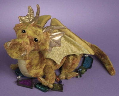 "Topaz Gold - 15"" Dragon By Douglas Cuddle Toys"