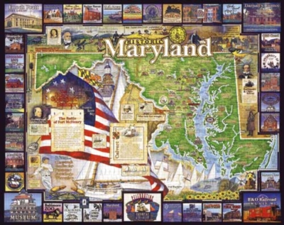 Historic Maryland - 1000pc Jigsaw Puzzle By White Mountain