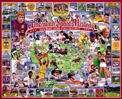 American Sports History - 1000pc Jigsaw Puzzle By White Mountain