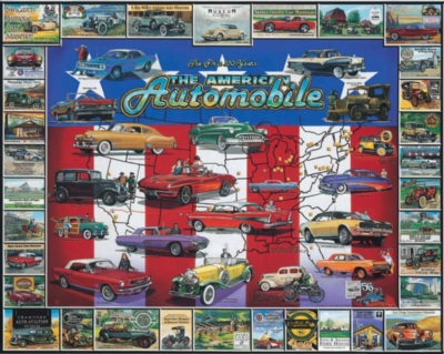 American Auto History - 1000pc Jigsaw Puzzle By White Mountain