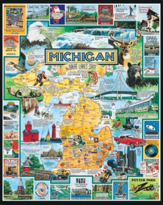 Best of Michigan - 1000pc Jigsaw Puzzle By White Mountain