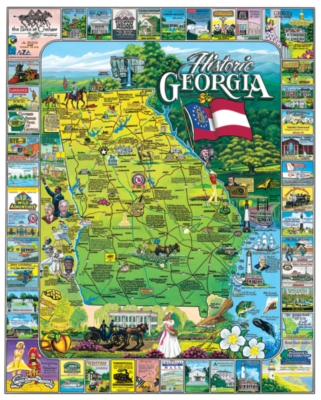 Historic Georgia - 1000pc Jigsaw Puzzle By White Mountain