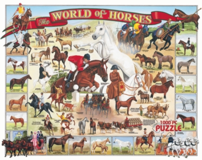 World of Horses - 1000pc Jigsaw Puzzle By White Mountain