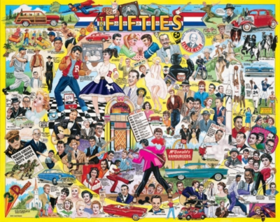 The Fifties - 1000pc Jigsaw Puzzle By White Mountain