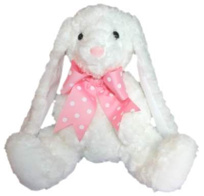 "White Mama Bunny - 12"" Rabbit By Douglas Cuddle Toys"