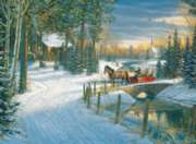 Holiday Sleigh Ride - 1000pc Jigsaw Puzzle By White Mountain