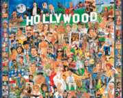 Hollywood - 1000pc Jigsaw Puzzle By White Mountain