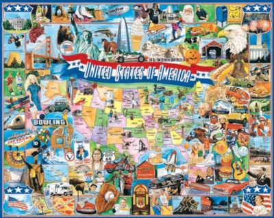 United States of America - 1000pc Jigsaw Puzzle By White Mountain