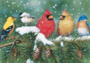 Cardinals & Friends - 550pc Jigsaw Puzzle By White Mountain