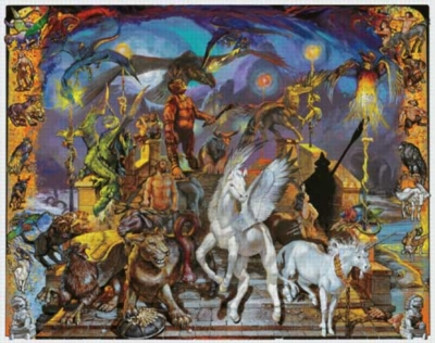 Mythical Creatures - 1000pc Jigsaw Puzzle by White Mountain