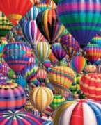 Hot Air Balloons - 1000pc Jigsaw Puzzle by White Mountain