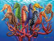 Seahorses - 550pc Jigsaw Puzzle by White Mountain