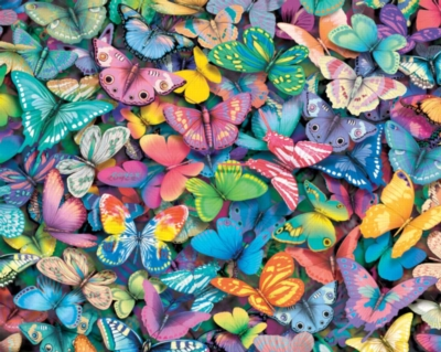 Butterflies - 1000pc Jigsaw Puzzle by White Mountain