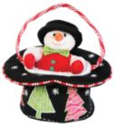 "Top Hat Bag with Mr. Snowman - 6"" Tote By Douglas Cuddle Toys"