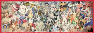 Boston Sports Legends - 700pc Panoramic Jigsaw Puzzle by White Mountain