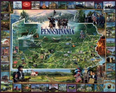 Historic Pennsylvania - 1000pc Jigsaw Puzzle By White Mountain