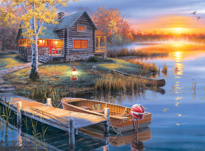 Autumn at the Lake - 1000pc Jigsaw Puzzle By Buffalo Games