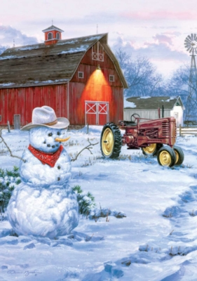 Large Format Jigsaw Puzzles - Bush: Country Snowman